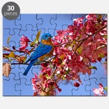 Bluebird in Blossoms Puzzle