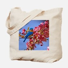 Bluebird in Blossoms Tote Bag