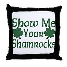 Show Me Your Shamrocks Throw Pillow