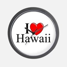 """I Love Hawaii"" Wall Clock"