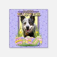 "EasterEggCookiesAustralianC Square Sticker 3"" x 3"""