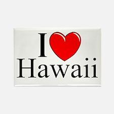 """I Love Hawaii"" Rectangle Magnet"