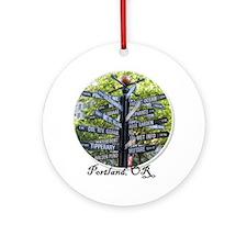portland2 Round Ornament