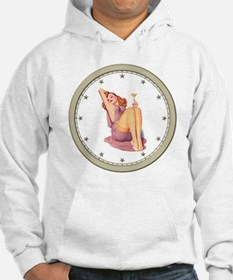 CLOCK A Pin-Up Silver Star Hoodie