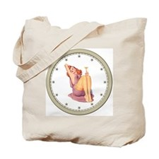 CLOCK A Pin-Up Silver Star Tote Bag