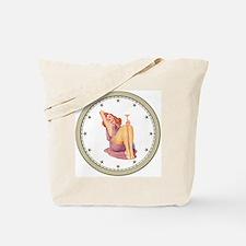 CLOCK A Pin-Up Silver Star Tote Bag