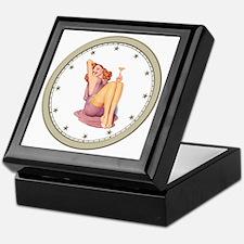 CLOCK A Pin-Up Silver Star Keepsake Box