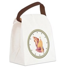 CLOCK A Pin-Up Silver Star Canvas Lunch Bag