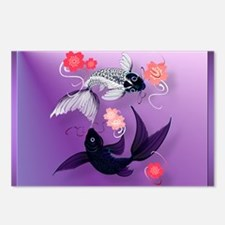 Calender Yin and Yang Koi Postcards (Package of 8)