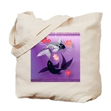 Calender Yin and Yang Koi and Cherry Blos Tote Bag