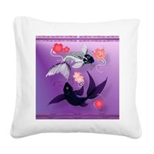 Calender Yin and Yang Koi and Square Canvas Pillow