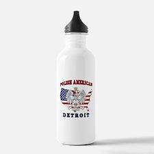 Detroit Michigan Polish Water Bottle