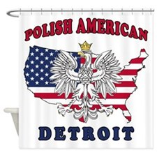 Detroit Michigan Polish Shower Curtain