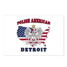 Detroit Michigan Polish Postcards (Package of 8)