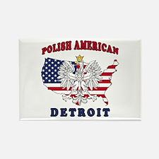 Detroit Michigan Polish Rectangle Magnet