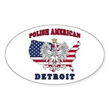Detroit Michigan Polish Decal