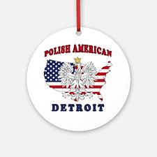Detroit Michigan Polish Ornament (Round)