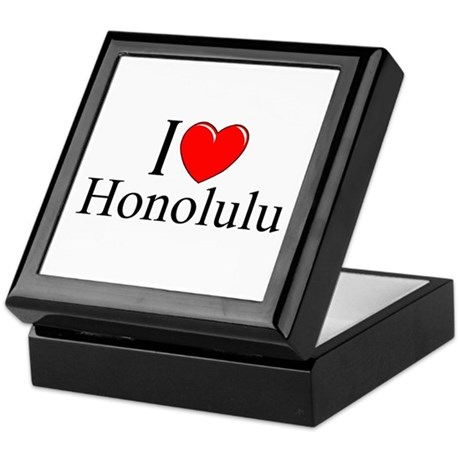 """I Love Honolulu"" Keepsake Box"