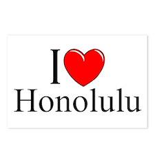 """I Love Honolulu"" Postcards (Package of 8)"