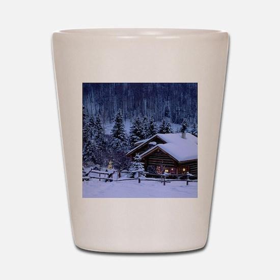 I'm dreaming of a white Christmas Shot Glass