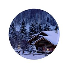 "I'm dreaming of a white Christmas 3.5"" Button"