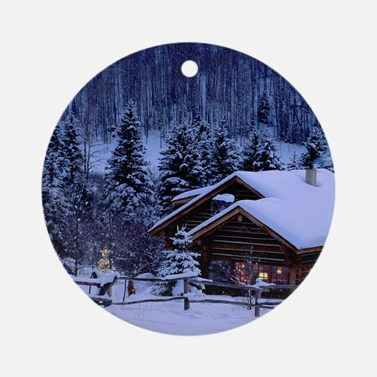 I'm dreaming of a white Christmas Round Ornament