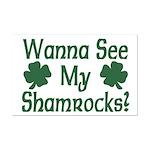Wanna See My Shamrocks Mini Poster Print