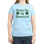 Wanna See My Shamrocks Women's Light T-Shirt
