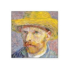 "Cal VanGogh H22 Square Sticker 3"" x 3"""
