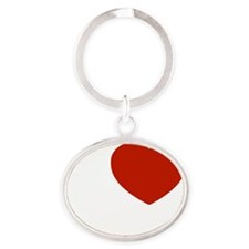 hallie1 Oval Keychain