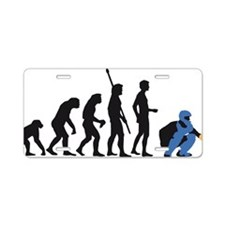 Evolution baseball catcher  Aluminum License Plate