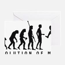 Evolution Baseball pitcher 1c Greeting Card