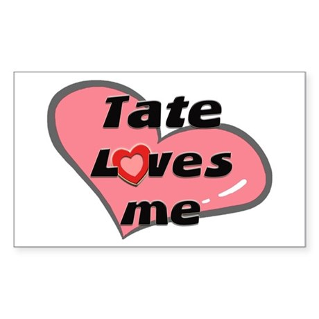 tate loves me Rectangle Sticker