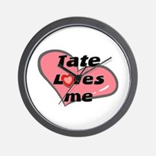 tate loves me  Wall Clock