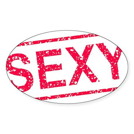 ss-sexy Sticker (Oval)