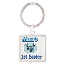Adams First Easter.... Square Keychain