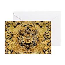 BeeFloralGoldPiloHz Greeting Card