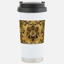 BeeFloralGoldPiloHz Stainless Steel Travel Mug