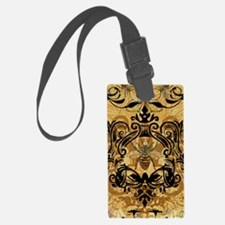 BeeFloralGold460ip Luggage Tag