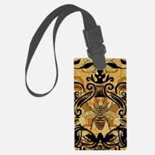 BeeFloralGoldIncr2Ph Luggage Tag