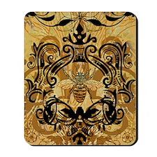 BeeFloralGoldJr Mousepad