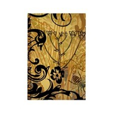 BeeFloralGold443ip Rectangle Magnet