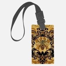 BeeFloralGoldKindleC Luggage Tag