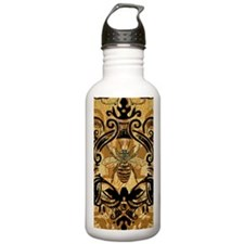 BeeFloralGoldKindleC Water Bottle