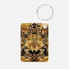 BeeFloralGoldKindleC Keychains