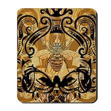 BeeFloralGoldKindleC Mousepad