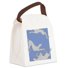 3WeimsBlueTrans Canvas Lunch Bag