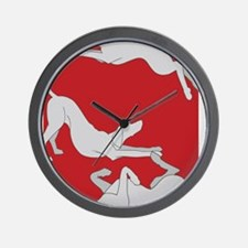 3WeimsRedTrans Wall Clock