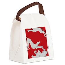 3WeimsRedTrans Canvas Lunch Bag