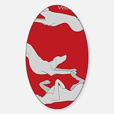 3WeimsRedTrans Sticker (Oval)